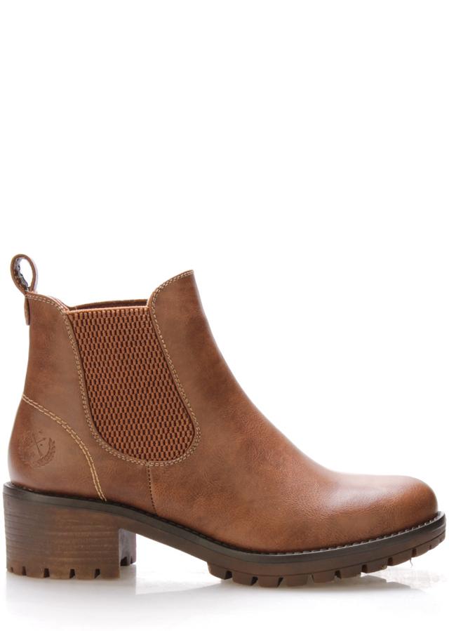 Hnědé boty na širokém podpatku Jane Klain