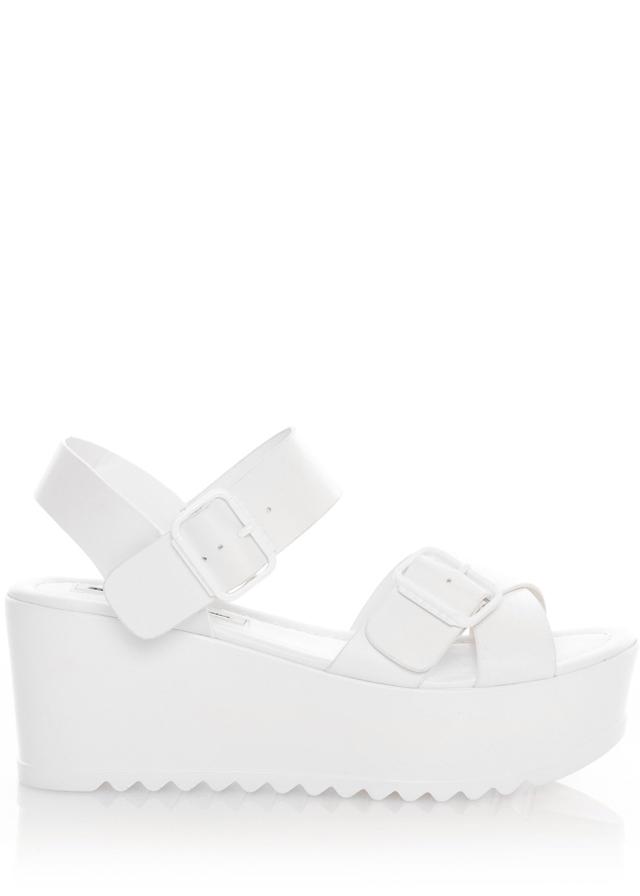 Bílé sandály na platformě MTNG