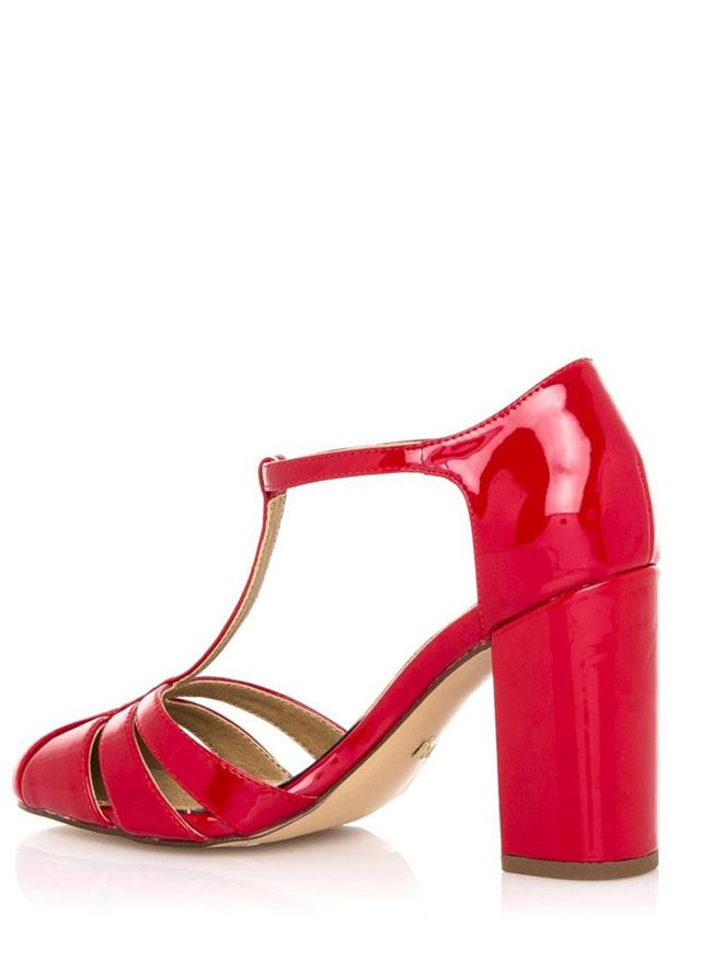 72c1acf9a8cc Červené sandály na vyšším širokém podpatku Maria Mare(326939) - 3