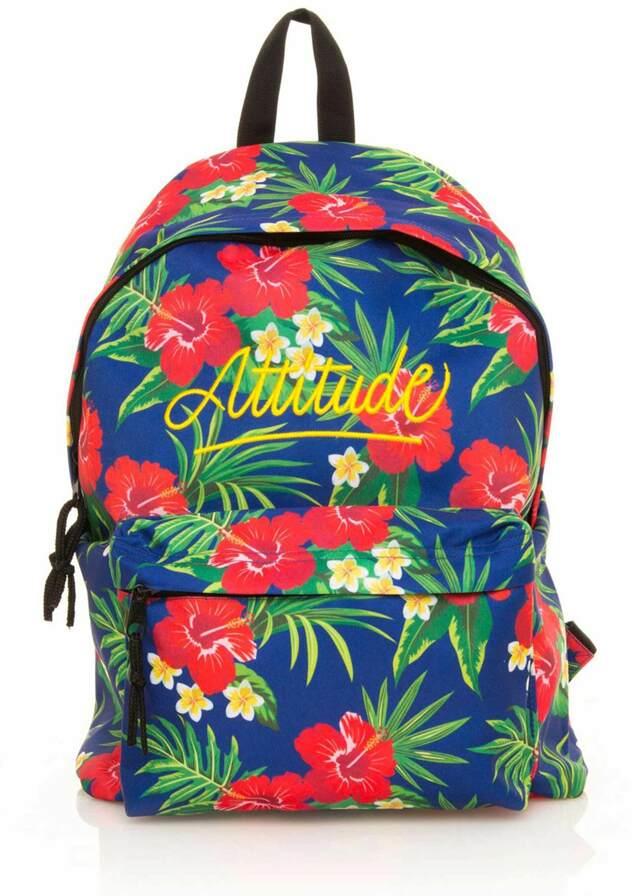 Modro zelený květovaný batoh MTNG