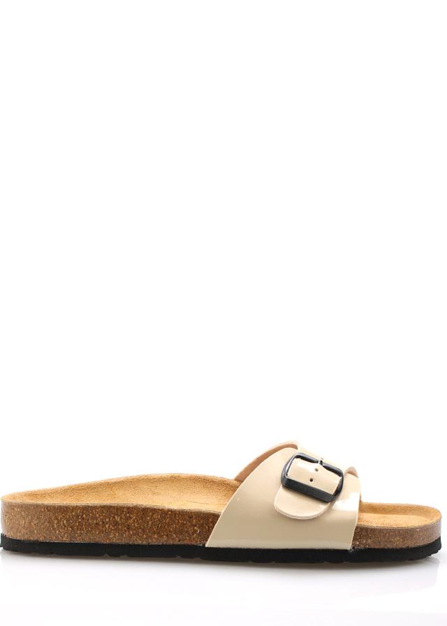 Béžové nízké kožené zdravotní pantofle EMMA Shoes