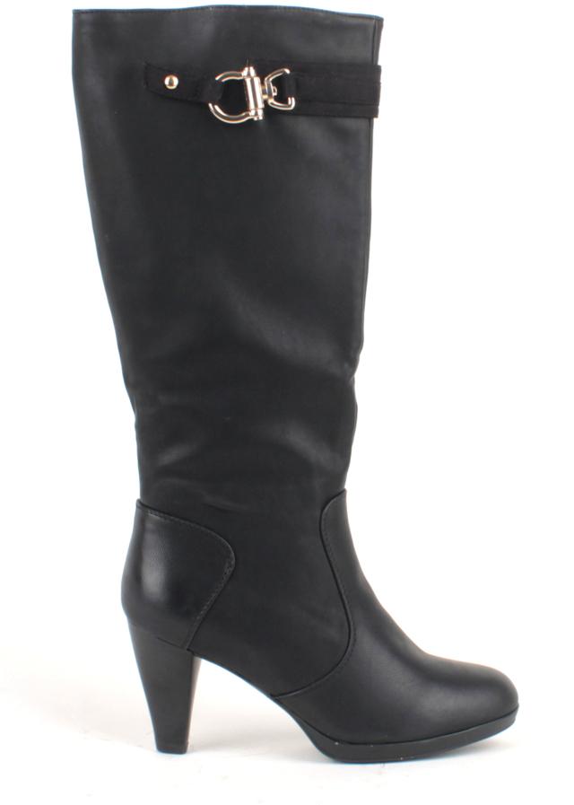 Černé kozačky na podpatku D'Angela - 36