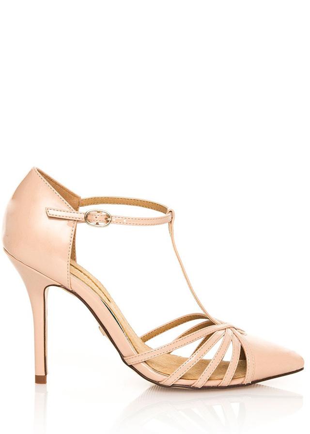 Béžové sandály na jehlovém podpatku MARIA MARE