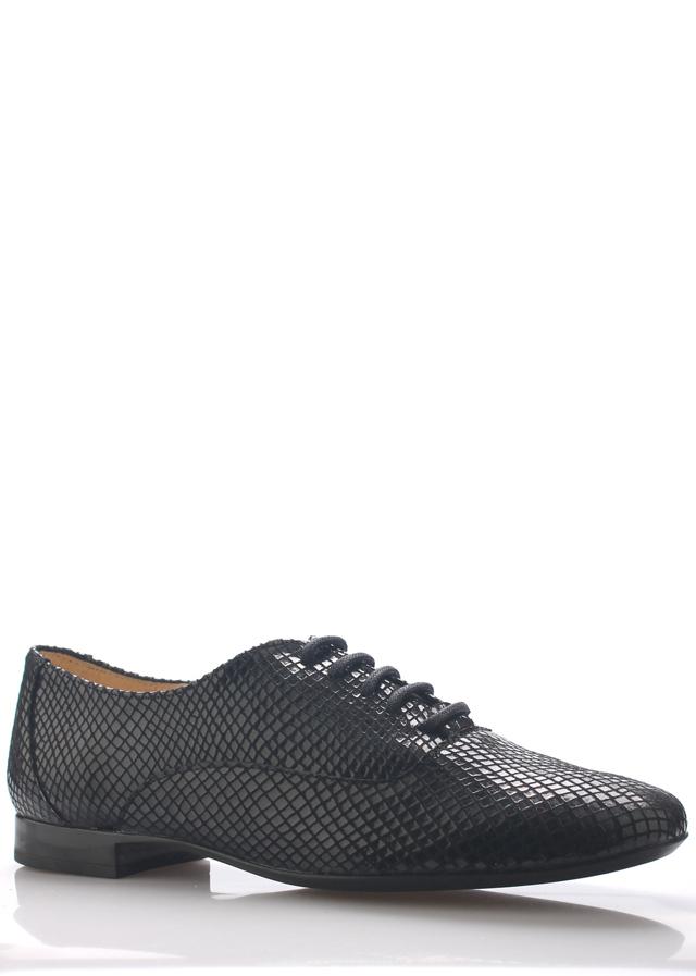 62a70f52d728f Černé kožené boty s hadím vzorem Maria Jaén - 39