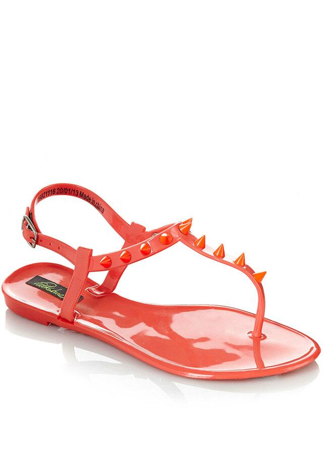 414eda4314 Park Lane Shoes Korálové plastové jelly sandálky s hroty Park Lane(4127) - 3