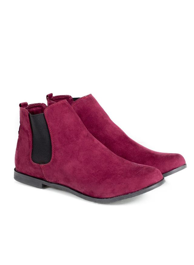 Dámské bordó kotníčkové boty Timeless Nirat(4141) - 4 2afe81503f