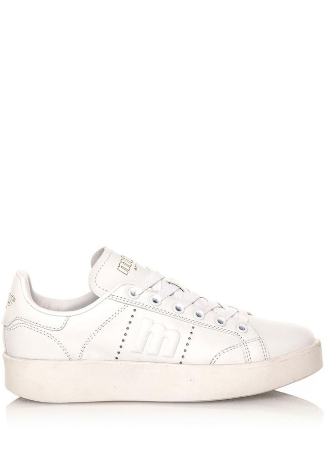 Bílé tenisky s bílou podrážkou MTNG