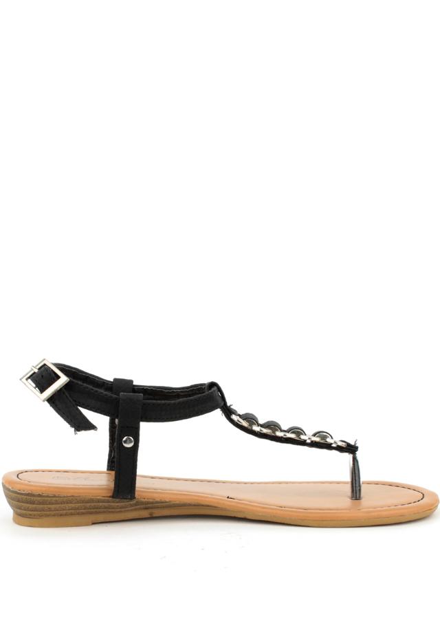 Sandále s hadím páskem Claudia Ghizzani černé