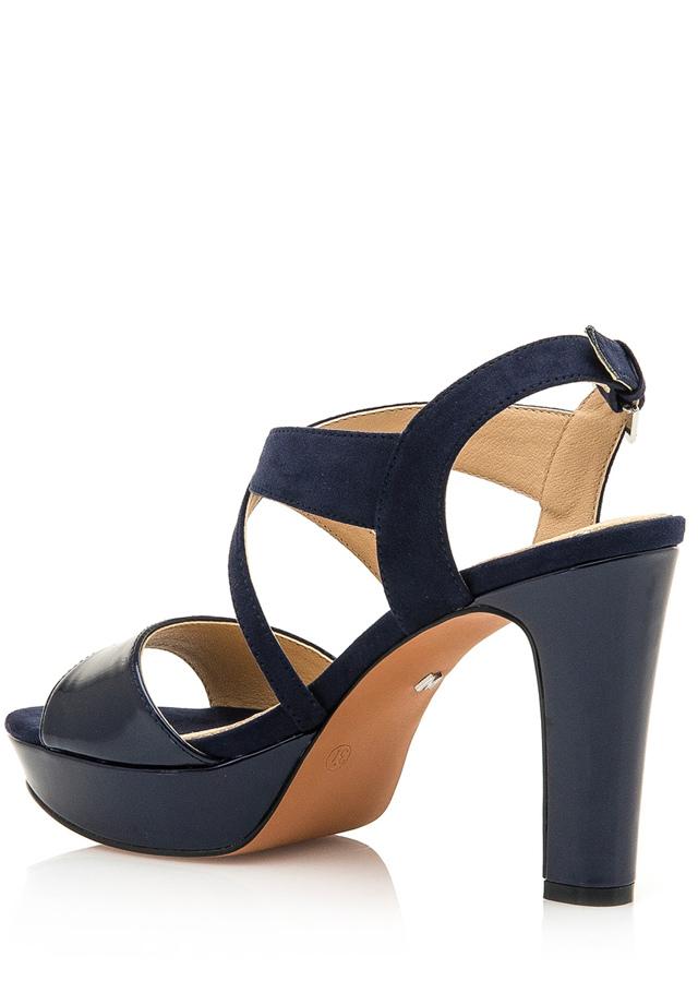 550f3a7e04 Tmavě modré páskové sandály s nízkou platformou Maria Mare(1081910) - 3