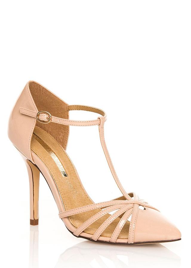 Béžové sandály na jehlovém podpatku MARIA MARE(96107) - 3 858bdc1816