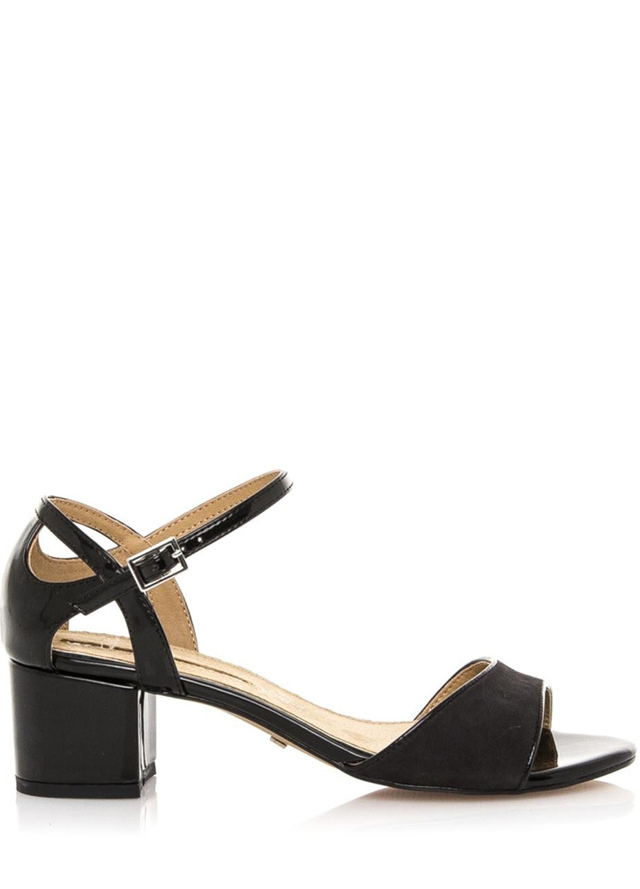 Černé sandály na širokém nízkém podpatku Maria Mare