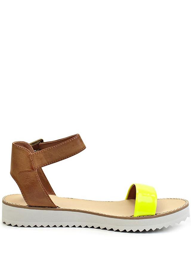 Páskové žluté sandály na platformě Timeless Quing