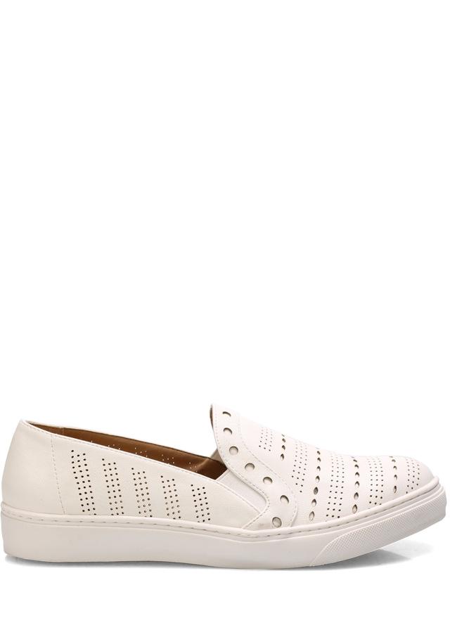 Bílé dírkované nazouvací boty Trendy too - 41