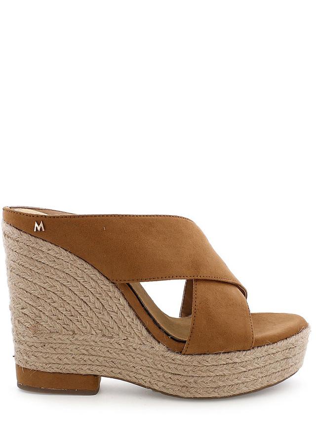 Hnědé dámské sandály na klínku MARIA MARE