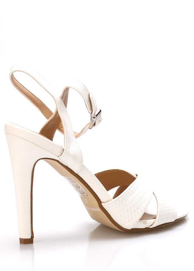 Bílé sandály na podpatku Trendy too(149667) - 4 7e26721ff7