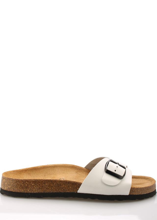 Bílé nízké kožené zdravotní pantofle EMMA Shoes