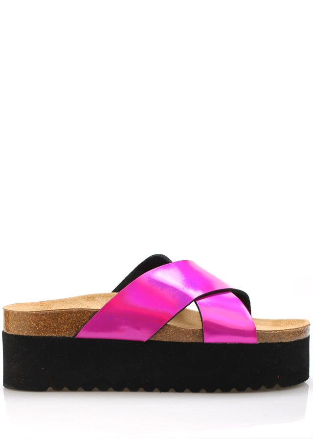Růžové vysoké kožené zdravotní pantofle EMMA Shoes
