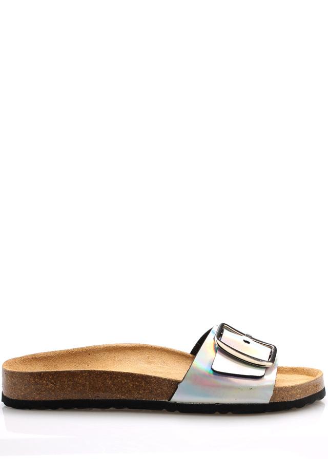Metalické nízké kožené zdravotní pantofle EMMA Shoes - 36