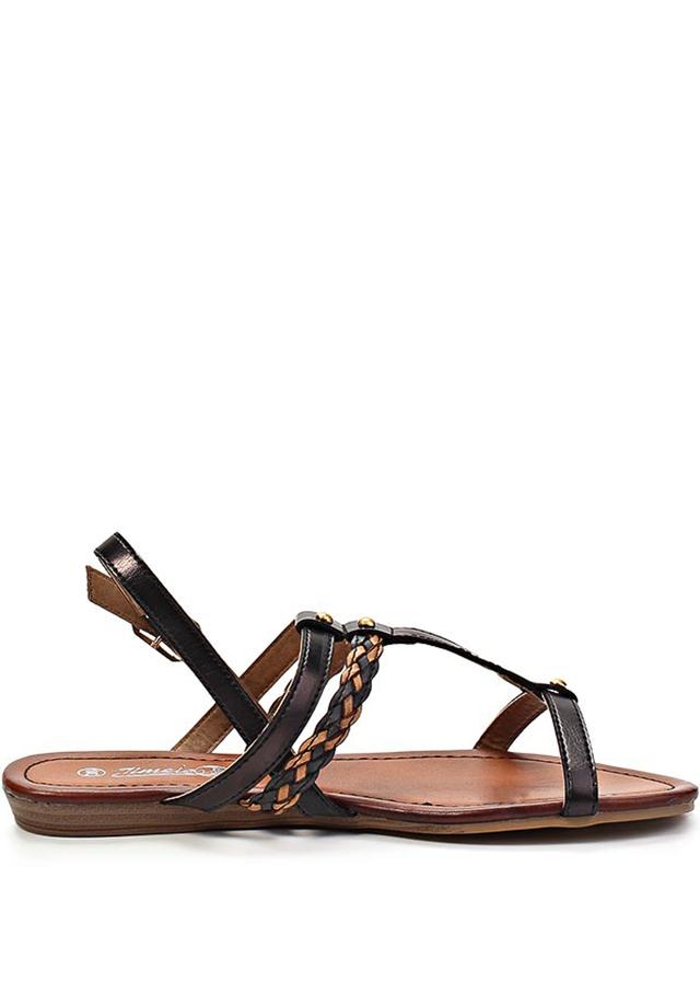 4185b9c505 Hnědo-černé páskové vycházkové sandály Timeless 37(4138) - 1