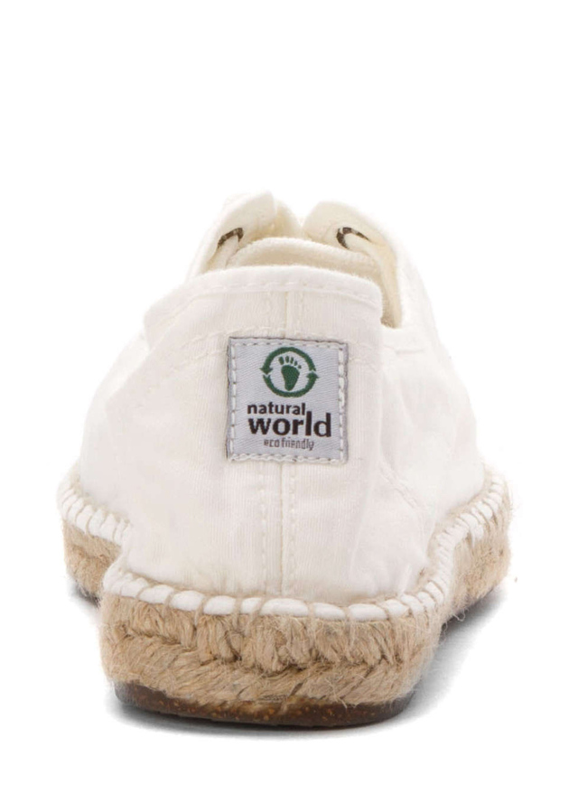 6cdcb0bce7fa Bílé ekologické espadrilové tenisky Natural World(724799) - 2
