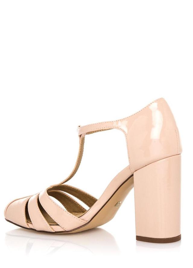 554114b9f9b2 Béžové sandály na vyšším širokém podpatku Maria Mare(326938) - 4