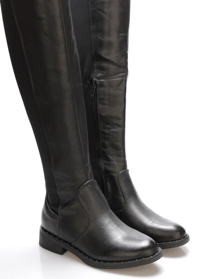 12f6e51ef32 Černé elastické jezdecké kozačky Claudia Ghizzani(829185) - 2