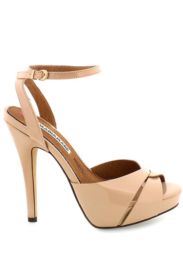 Béžové sandály na vysokém podpatku MARIA MARE