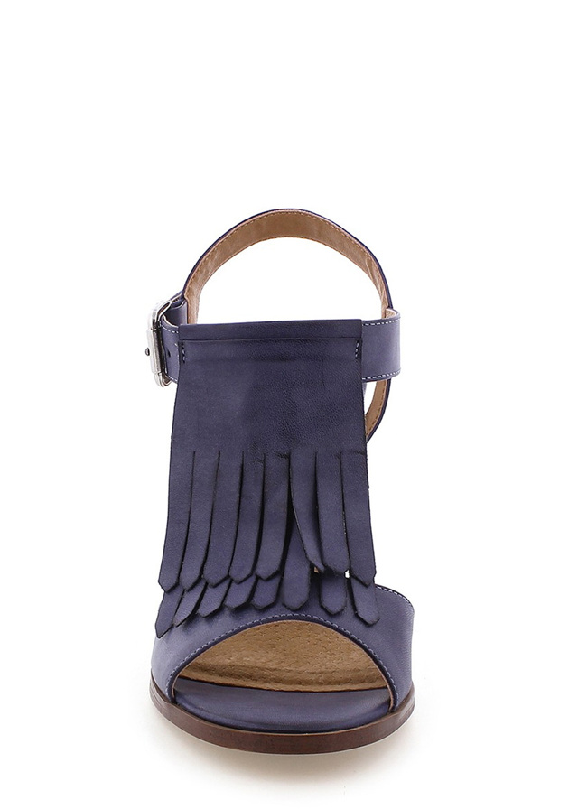 088b0950f8 ... Modré sandály s trásněmi na podpatku MARIA MARE (101648) - 2 ...
