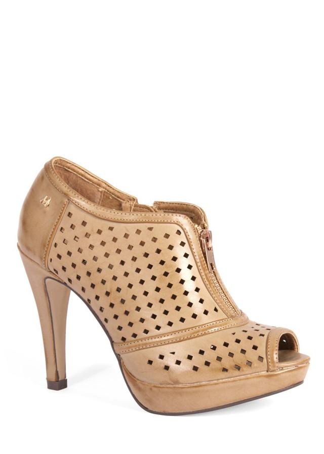 b2a7491428b Hnědé děrované boty na podpatku MARIA MARE(11730) - 4