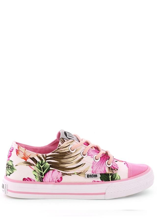 Růžové květované nízké tenisky MTNG - 36