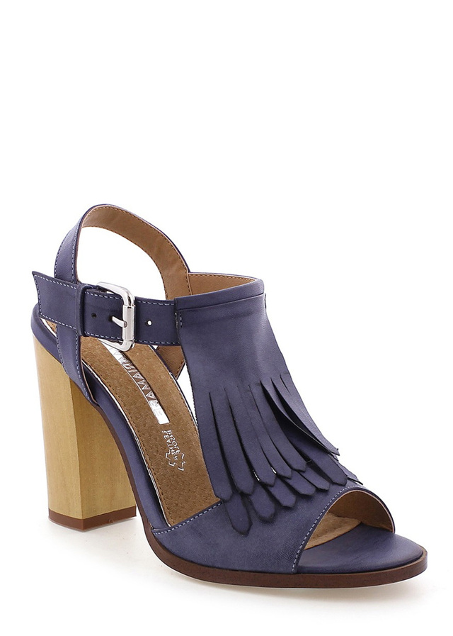 25c343b1d9 ... Modré sandály s trásněmi na podpatku MARIA MARE (101648) - 4