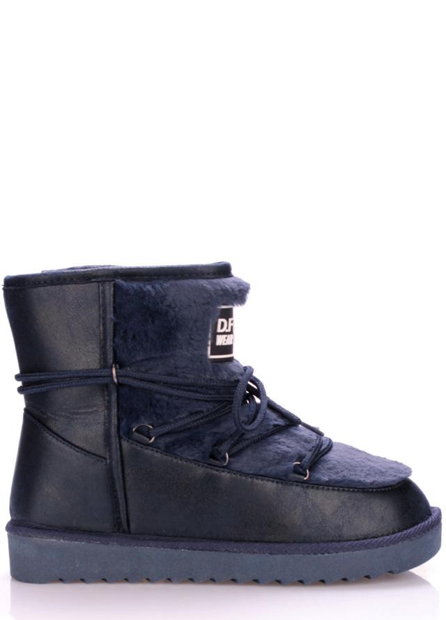 Tmavě modré boty s kožíškem D.Franklin