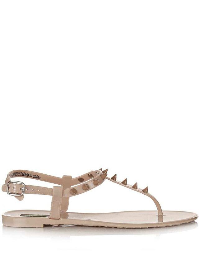 c1a1b950fb Park Lane Shoes Béžové plastové jelly sandálky s hroty Park Lane(4126) - 1