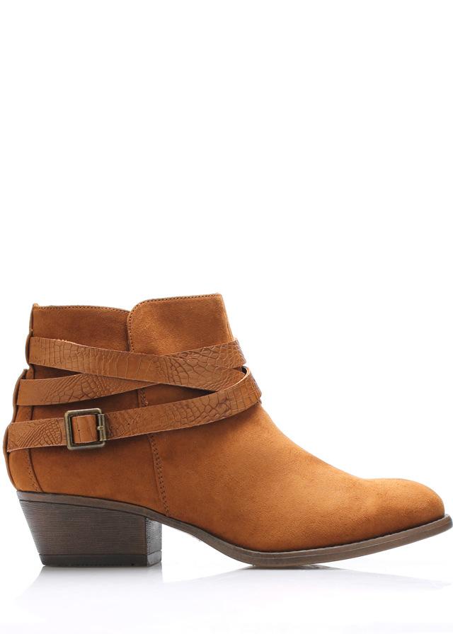 Hnědé boty na podpatku s řemínky Claudia Ghizzani