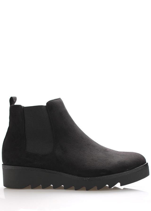 Černé kotníkové boty s elastickou částí Claudia Ghizzani