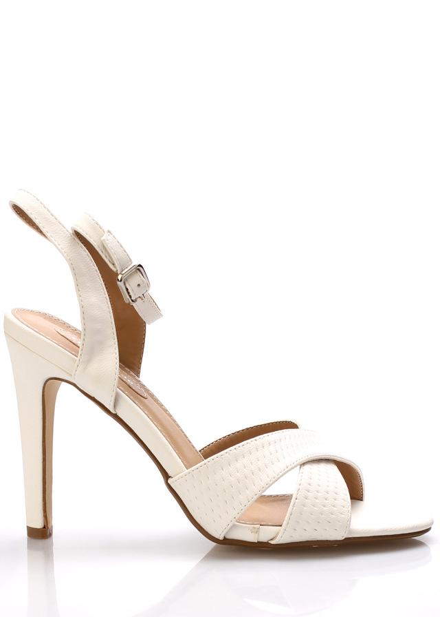 Bílé sandály na podpatku Trendy too - 40