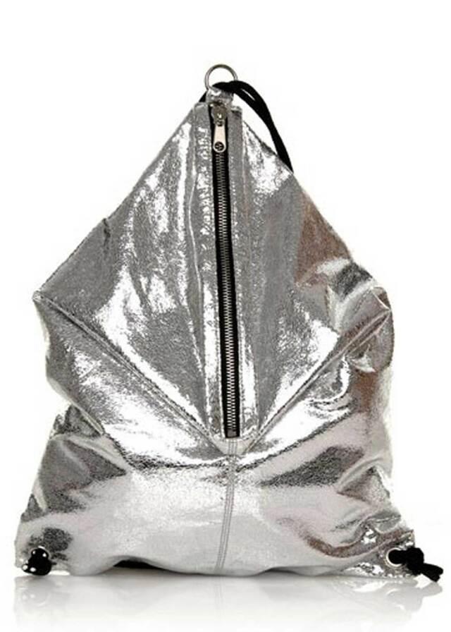 Stříbrný pytlový batoh Sixtyseven