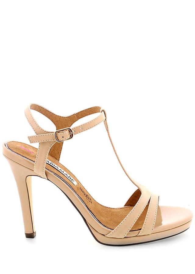Béžové páskové sandály MARIA MARE