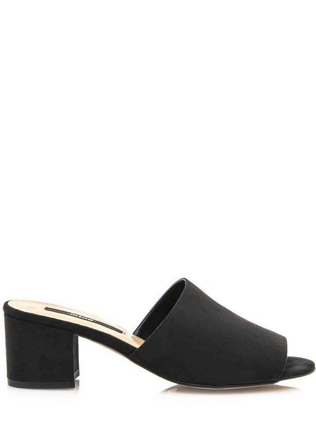 Černé pantofle na podpatku MTNG