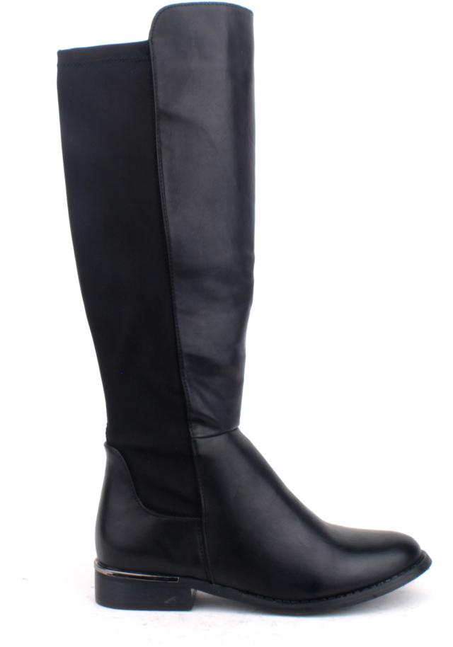 Černé kozačky s elastickými částmi Claudia Ghizzani