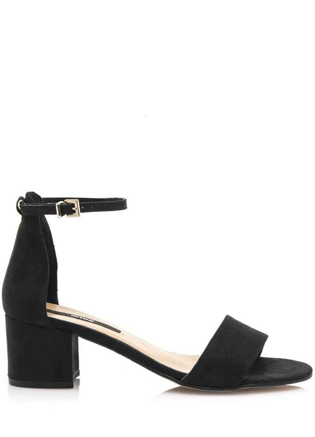 Černé sandály s širokým podpatkem MTNG
