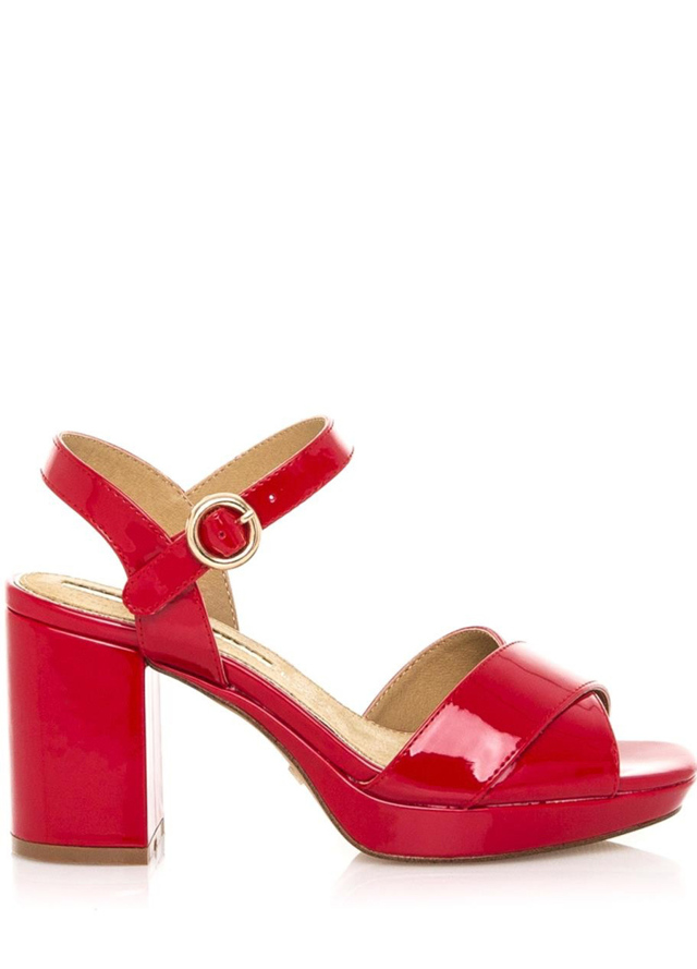 Červené lesklé páskové sandály Maria Mare