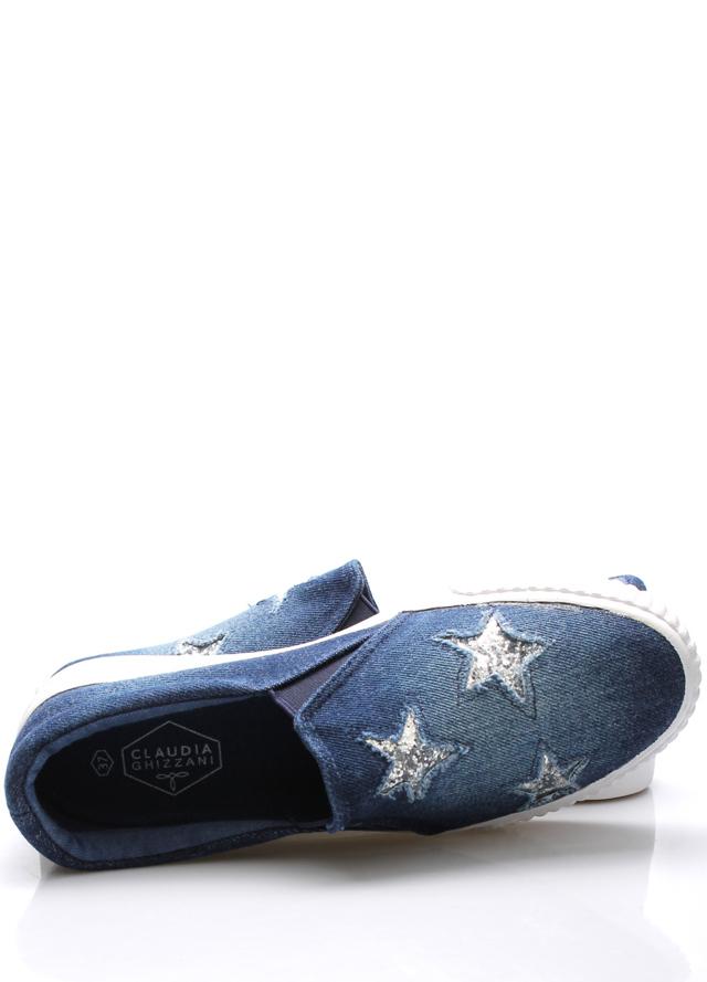 1a25f2921e Tmavě modré jeansové nazouvací tenisky Claudia Ghizzani(395772) - 4