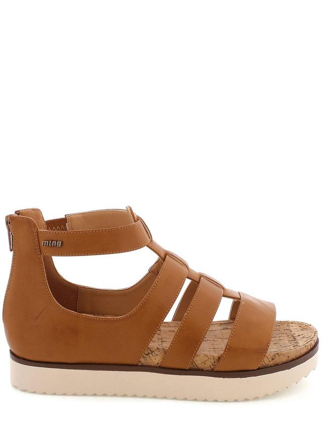 Hnědé sandály gladiátorky MTNG