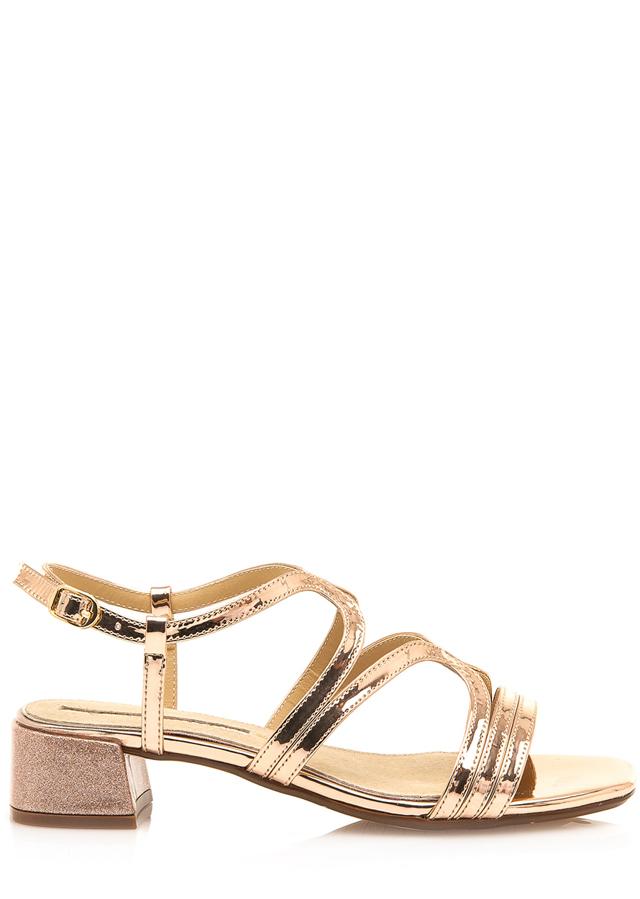 Sandály se širokým podpatkem v růžově zlaté Maria Mare 36 - 36