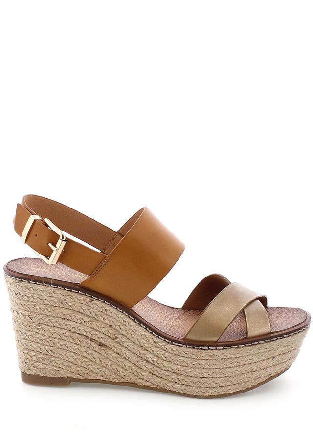 Hnědé letní sandály na platformě MARIA MARE