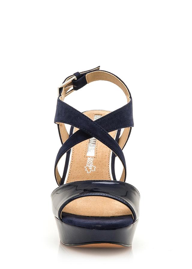 ac4661596a Tmavě modré páskové sandály s nízkou platformou Maria Mare(1081910) - 4