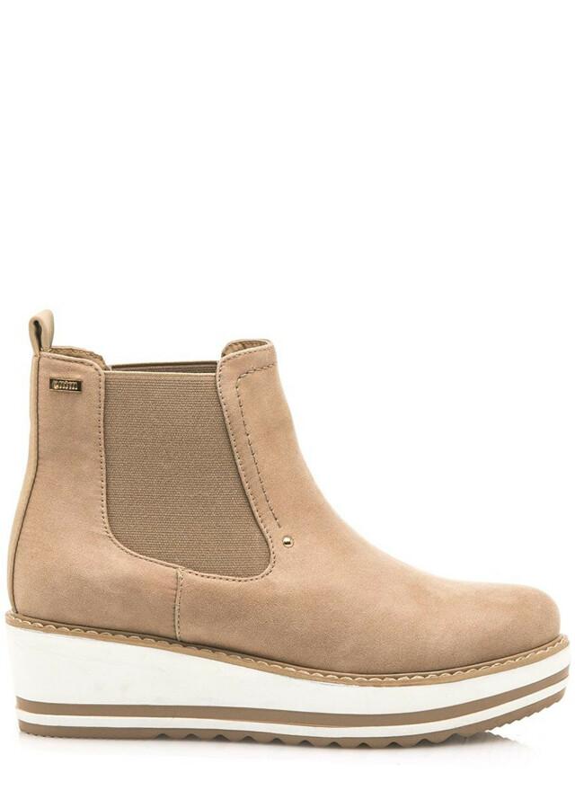 Hnědé kotníkové boty na klínku MTNG 36 - 36
