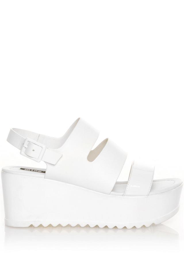 Bílé sandály s platformou MTNG