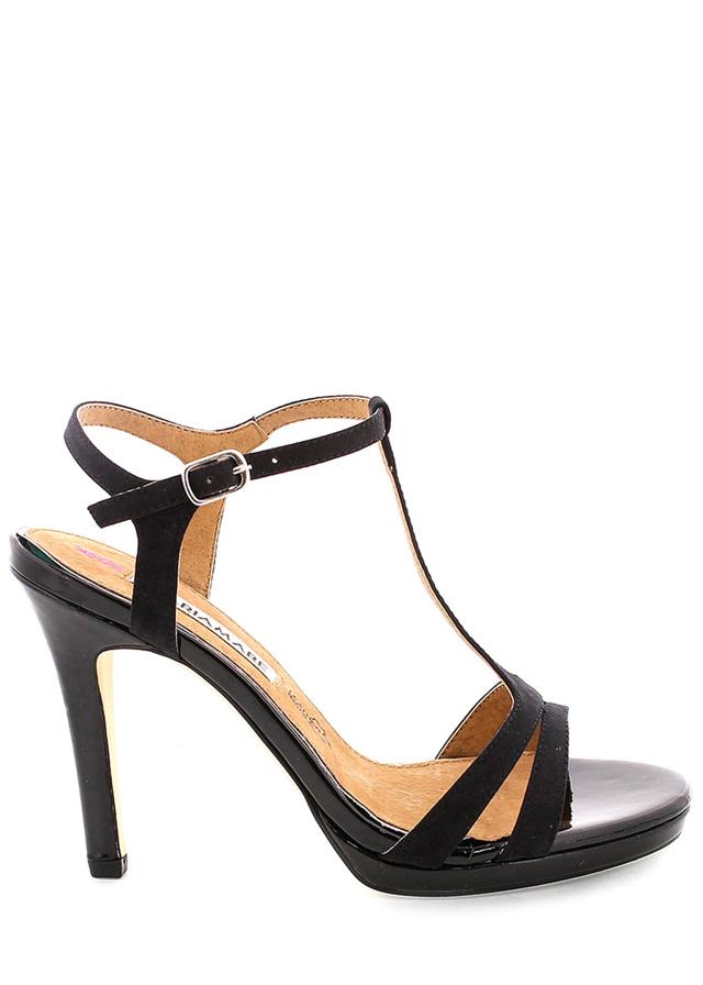 Černé páskové sandály MARIA MARE